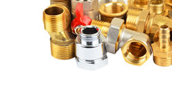 Set of plumbing fitting Stock Photo
