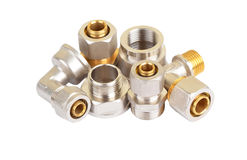 Set of plumbing fitting Stock Image