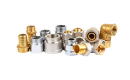 Set of plumbing fitting Royalty Free Stock Images