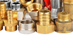 Set of plumbing fitting Royalty Free Stock Photos