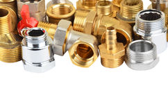 Set of plumbing fitting Stock Images
