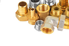 Set of plumbing fitting Royalty Free Stock Photo