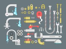Set plumbing parts Royalty Free Stock Image