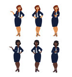 Set of plus size business woman. Stock Photography