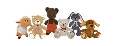 Set of plush toys Stock Photos