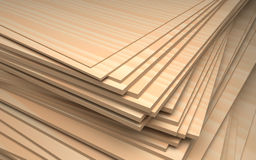 Set of plywood, industrial illustration Stock Image