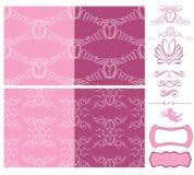 Set poślubiać bezszwowych wzory - ornamenty z obrączkami ślubnymi Obraz Stock