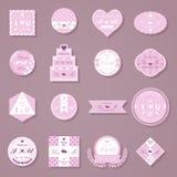 Set poślubiać dekoracyjnych majcherów Zdjęcie Royalty Free