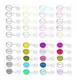 Set Pobiera próbki od cel populaci badanie proces Fotografia Royalty Free