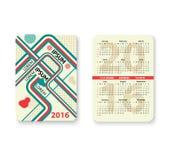 Set of pocket calendar Royalty Free Stock Image