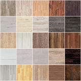Set podłogowa drewniana tekstura Zdjęcia Royalty Free