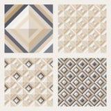 Set podłogowe płytki. Wzory z kwadratowymi diamentami Zdjęcie Royalty Free