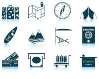 Set podróży ikona Zdjęcie Stock