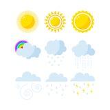 Set pogodowe ikony wektorowe Zdjęcie Stock