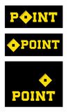 Set of point signs Royalty Free Stock Images