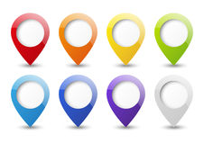 Set pointers. Set of round 3D map pointers Royalty Free Stock Photography