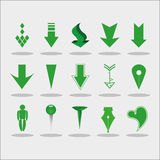Set of pointers Royalty Free Stock Images
