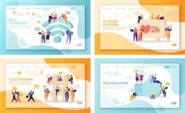Set pojęcie lądowanie strony dla mobilnego strona internetowa rozwoju i strona internetowa projekta ilustracji