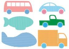 Set pojazdy  Obrazy Royalty Free