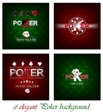 Set of poker  background with card symbol Royalty Free Stock Images