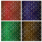 Set poker backgrounds, Stock Images
