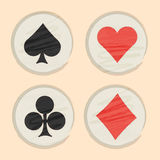 Set of poker card symbols. Royalty Free Stock Photography
