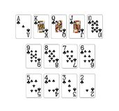 Set of poker cards Stock Image