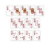 set of poker cards Royalty Free Stock Image