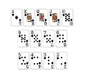 Set of poker cards Royalty Free Stock Photos