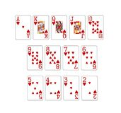 set of poker cards Royalty Free Stock Photography