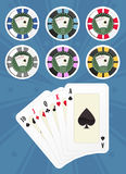 Set poker chips Stock Photography