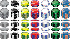 Set of poker chips Royalty Free Stock Image