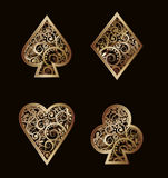 Set Poker golden elements Royalty Free Stock Photos