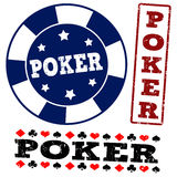 Set of poker stamps Royalty Free Stock Photos