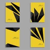 Set pokrywy dla magazynu czarni lampasy Fotografia Stock