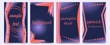Set pokrywy z abstraktem kształtuje na zmroku - błękitny tło ilustracji