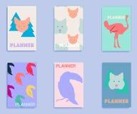 Set pokrywy z zwierzęcym drukiem Obraz Royalty Free