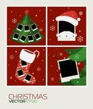 Set of Polaroid blank frame Stock Images