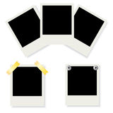 Set of Polaroid photo frames. Set of  illustrated Polaroid photo frames with emty space for your image Stock Photography