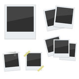 Set Polaroid photo frames on white background Royalty Free Stock Images