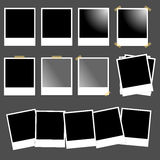 Set of polaroids. Set of blank polaroids isolated on grey background,useful for photo album or scrapbooks.EPS file available Royalty Free Stock Photos