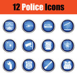 Set of police icons. Stock Image