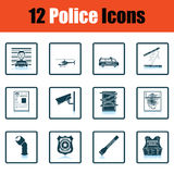 Set of police icons Royalty Free Stock Images