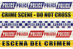 Set of Police Lines Stock Images