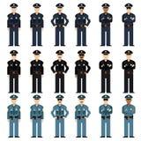 Set of police men Stock Image