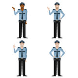 Set of Police men Stock Photos