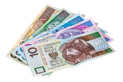 Set of polish banknotes Stock Photography