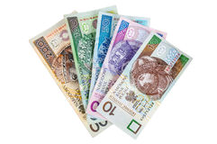 Set of polish banknotes Stock Image