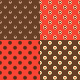 Set of polka dot patterns Royalty Free Stock Photo