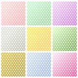 Multicolor background. Set of polka dots backgrounds royalty free illustration